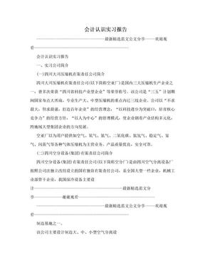 会计认识实习报告.doc
