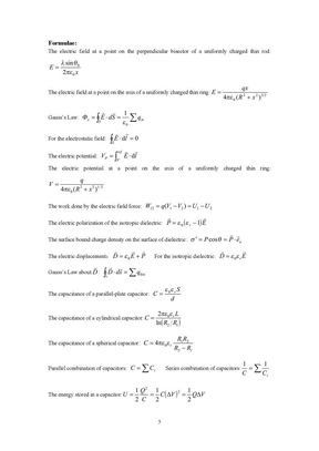 电磁学参考公式(英文).doc