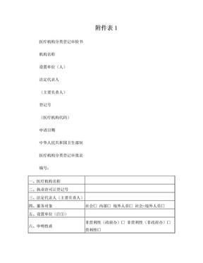 医疗机构分类登记审检书.doc