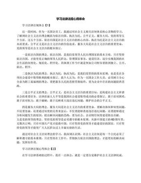 学习法律法规心得体会.docx