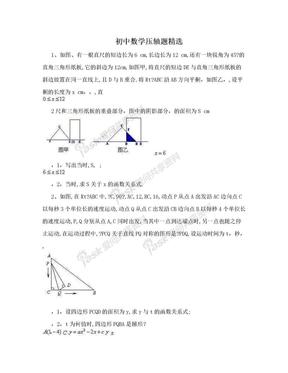 初中数学压轴题精选.doc