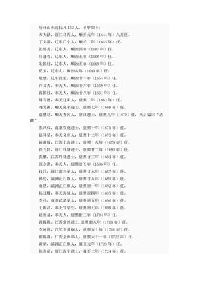清代山东巡抚.doc