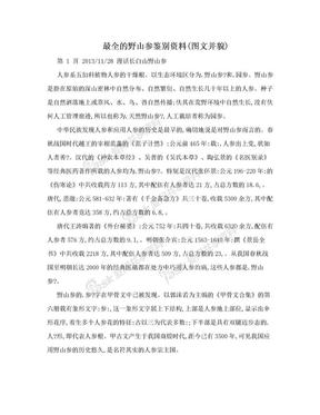 最全的野山参鉴别资料(图文并貌).doc