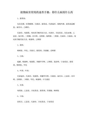 植物病害常用药速查手册.doc