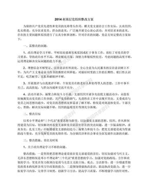 2014村基层党组织整改方案.docx