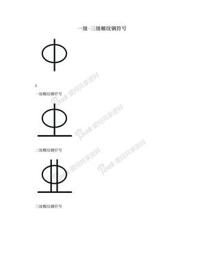 一级-三级螺纹钢符号.doc