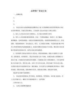 品牌推广策划方案.doc