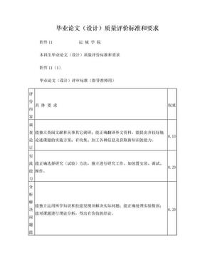 毕业论文设计质量评价标准和要求.doc