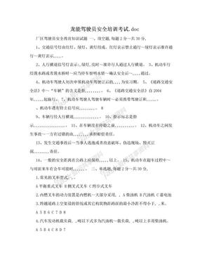 龙能驾驶员安全培训考试.doc.doc