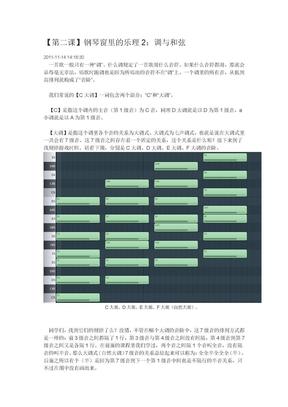 【第二课】入门FL_Studio-钢琴窗里的乐理2:调与和弦.doc