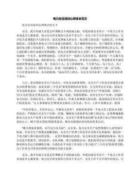 电力安全培训心得体会范文.docx