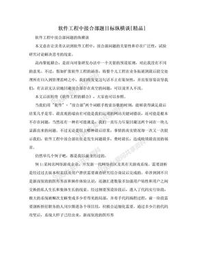 软件工程中接合部题目标纵横谈[精品].doc