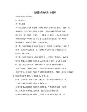 投资担保公司财务制度.doc