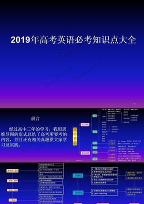 2019年高考英语必考知识点大全.ppt