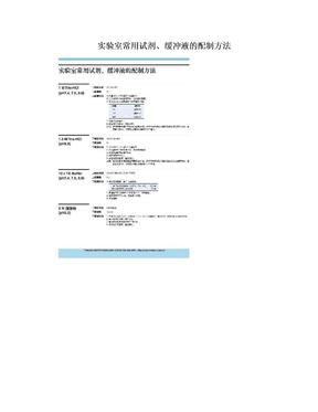 实验室常用试剂、缓冲液的配制方法.doc