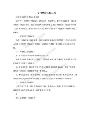 专项整治工作总结.doc