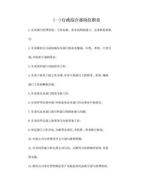 行政综合部岗位职责.doc