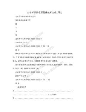 金车标识弱电智能化技术文件_图文.doc