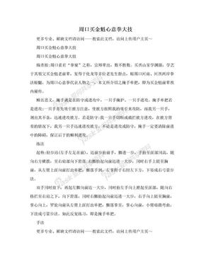 周口买金魁心意拳大技.doc