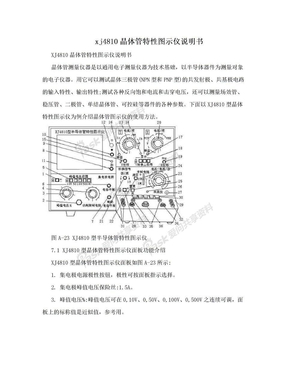 xj4810晶体管特性图示仪说明书.doc
