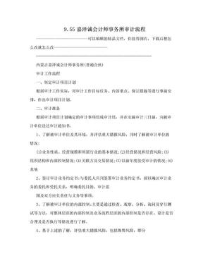 9.55嘉泽诚会计师事务所审计流程.doc