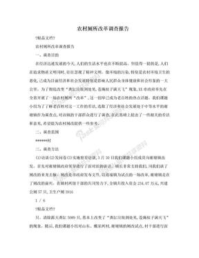 农村厕所改革调查报告.doc