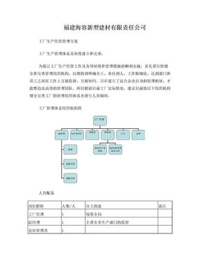 工厂经营管理方案.doc