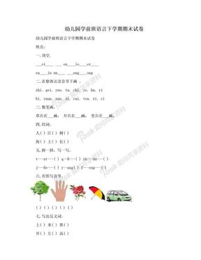 幼儿园学前班语言下学期期末试卷.doc