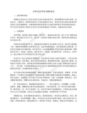大学生会计学实习报告范文.docx
