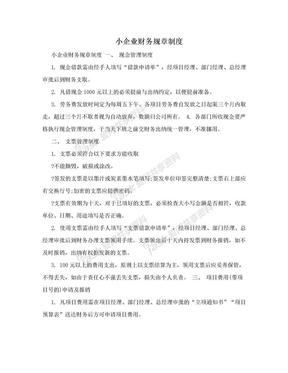 小企业财务规章制度.doc