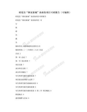 """昭觉县""""彝家新城""""商业街项目可研报告(可编辑).doc"""
