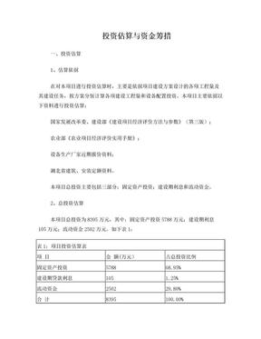 投资估算与资金筹措案例(财务管理)[1].doc
