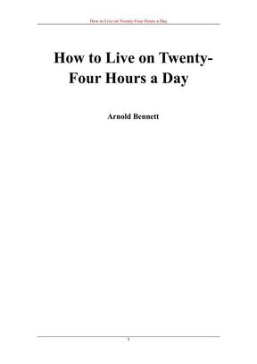 [如何度过一天24小时].英文版.pdf