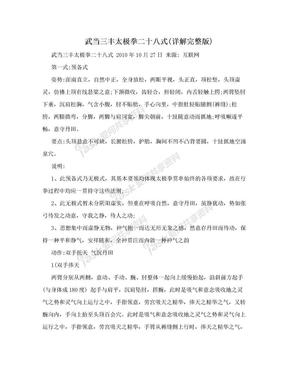 武当三丰太极拳二十八式(详解完整版).doc