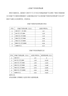 房地产评估收费标准.doc