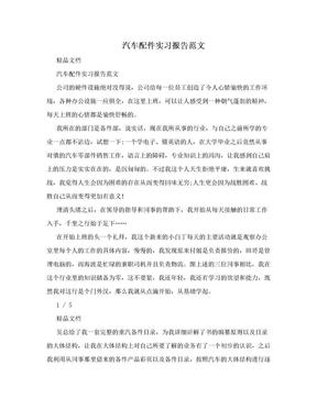 汽车配件实习报告范文.doc