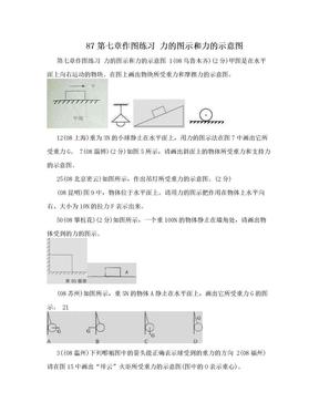 87第七章作图练习 力的图示和力的示意图.doc