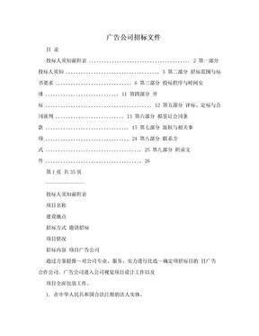 广告公司招标文件.doc