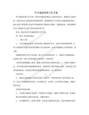 甲方现场管理工作手册.doc