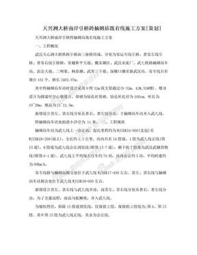 天兴洲大桥南岸引桥跨楠姆庙既有线施工方案[策划].doc