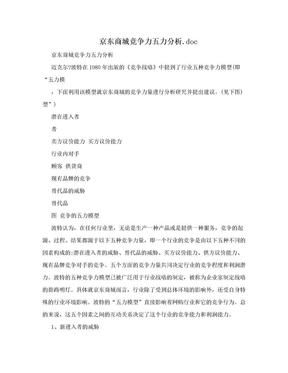 京东商城竞争力五力分析.doc.doc