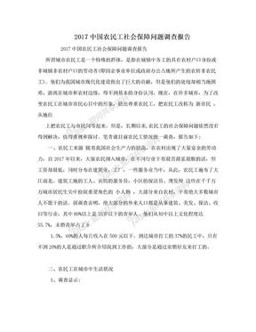 2017中国农民工社会保障问题调查报告.doc