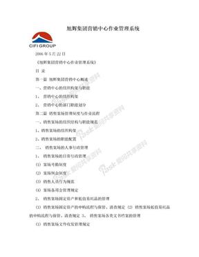 旭辉集团营销中心作业管理系统.doc