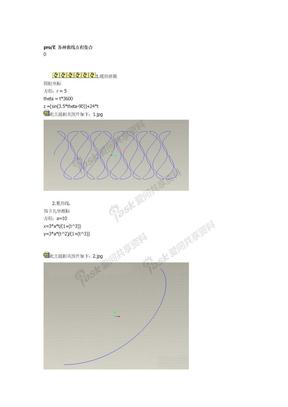 ProE曲线方程式集合.doc