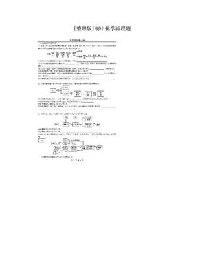[整理版]初中化学流程题.doc