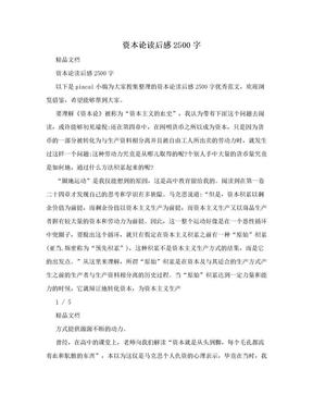 资本论读后感2500字.doc