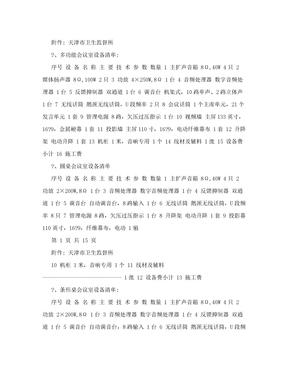 多功能会议室设备清单.doc
