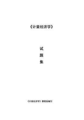 计量经济学试题集.doc