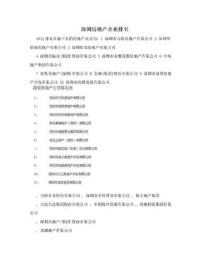深圳房地产企业排名.doc