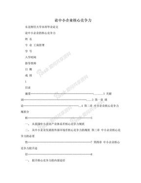 论中小企业核心竞争力.doc
